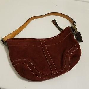 Coach vintage red suede mini bag